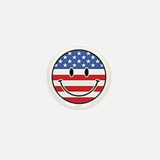 Patriotic Smiley Mini Button (10 pack)