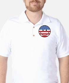 Patriotic Smiley T-Shirt