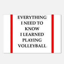 volleyball joke Postcards (Package of 8)