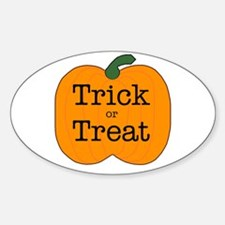 Trick or Treat Oval Decal