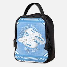 Sky Blue Football Soccer Neoprene Lunch Bag