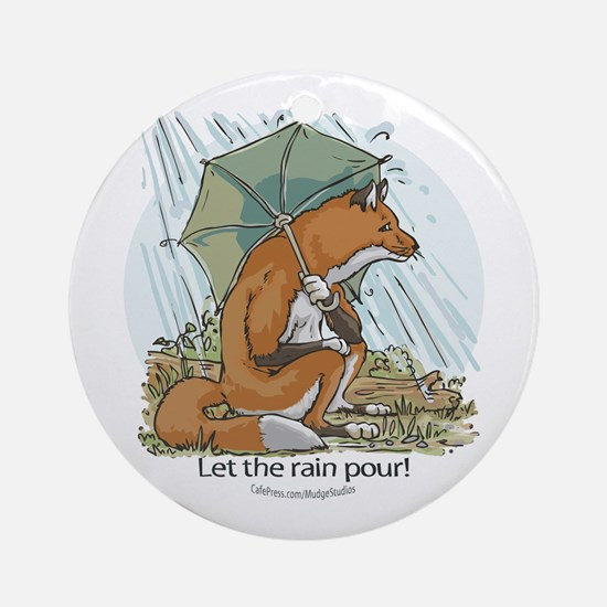 Fox Umbrella Ornament (Round)