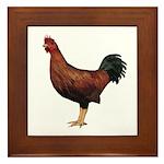 Chicken (Red) Framed Tile