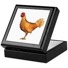 Chicken (Gold) Keepsake Box