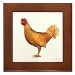 Chicken (Gold) Framed Tile