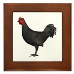 Chicken (Black) Framed Tile
