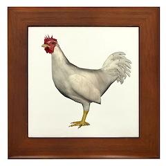 Chicken (White) Framed Tile