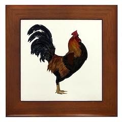 Rooster Framed Tile