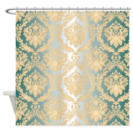 Elegant Damask Design Shower Curtain by Admin CP