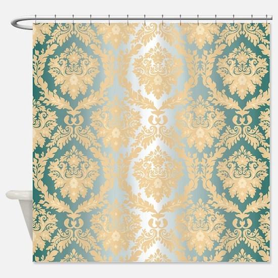 Elegant Damask Design Shower Curtain