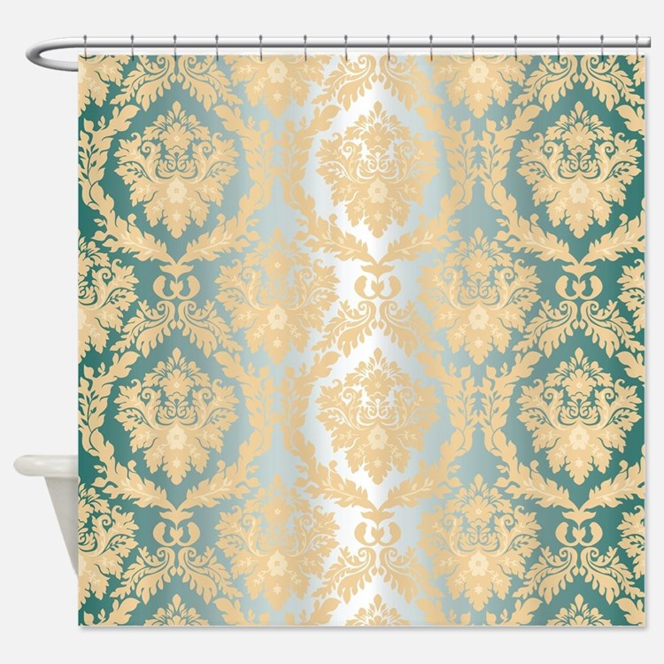 Grey And Yellow Retro Shower Curtains Grey And Yellow Retro Fabric Shower C
