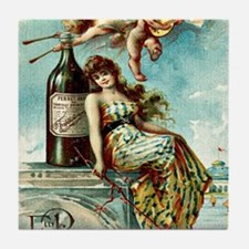 Cute Drink for italy Tile Coaster