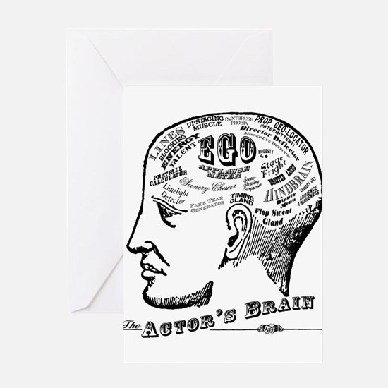 The Actor's Brain Greeting Cards
