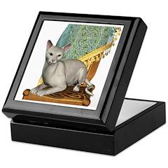 Cat (White Oriental) Keepsake Box