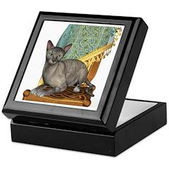 Cat (Tortie Oriental) Keepsake Box