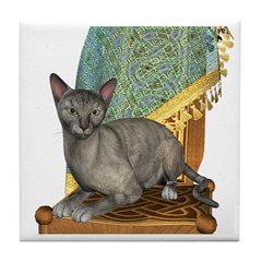 Cat (Tortie Oriental) Tile Coaster