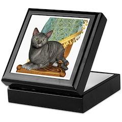Cat (Silver Tabby) Keepsake Box