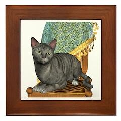 Cat (Silver Tabby) Framed Tile