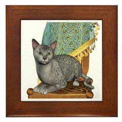 Cat (Silver Mau) Framed Tile