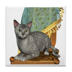 Cat (Silver Mau) Tile Coaster