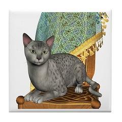 Cat (Silver Mau) Tile Coaster