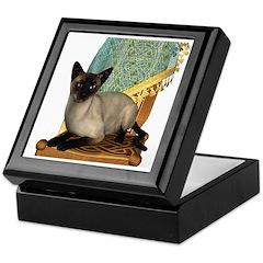Cat (Siamese) Keepsake Box