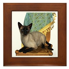 Cat (Siamese) Framed Tile