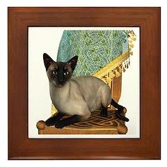 Cat (Siamese) Framed Tile