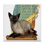 Cat (Siamese) Tile Coaster