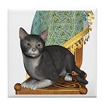 Cat (Grey White) Tile Coaster