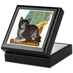 Cat (Grey Tabby) Keepsake Box