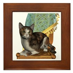 Cat (Calico) Framed Tile