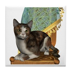 Cat (Calico) Tile Coaster