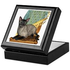 Cat (Blue Siamese) Keepsake Box
