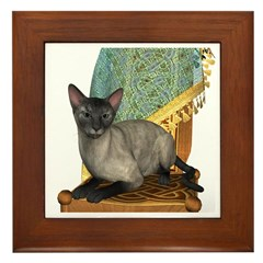 Cat (Blue Siamese) Framed Tile