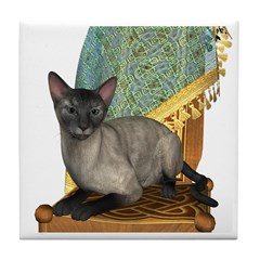 Cat (Blue Siamese) Tile Coaster