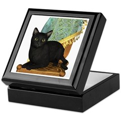 Cat (Black) Keepsake Box