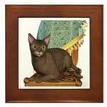 Cat (Abyssinian)Framed Tile