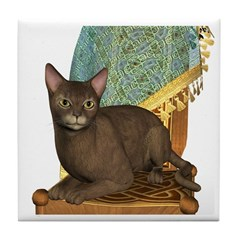 Cat (Abyssinian) Tile Coaster