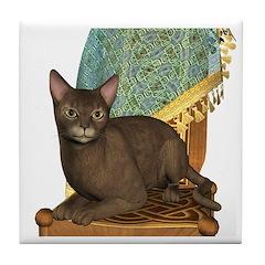 Cat (Abyssinian) Tile Coaster