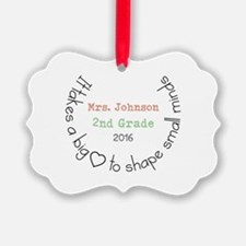 Personalized Big Hearted Teacher Ornament