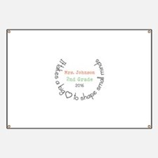 Personalized Big Hearted Teacher Banner