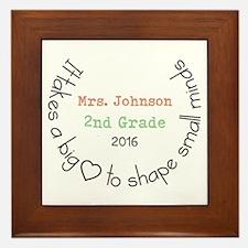 Personalized Big Hearted Teacher Framed Tile