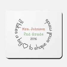 Personalized Big Hearted Teacher Mousepad