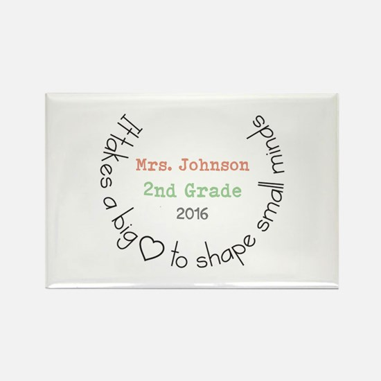 Personalized Big Hearted Teacher Magnets