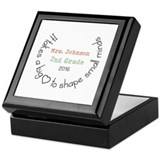 Teacher Square Keepsake Boxes