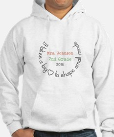 Personalized Big Hearted Teacher Hoodie