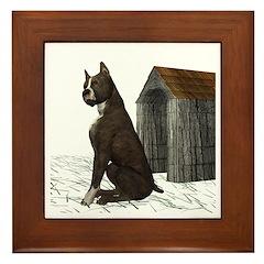 Dog (Staffordshire) Framed Tile