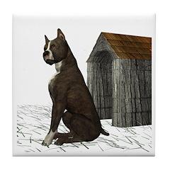 Dog (Staffordshire) Tile Coaster