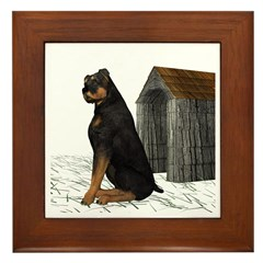 Dog (Rottweiler) Framed Tile